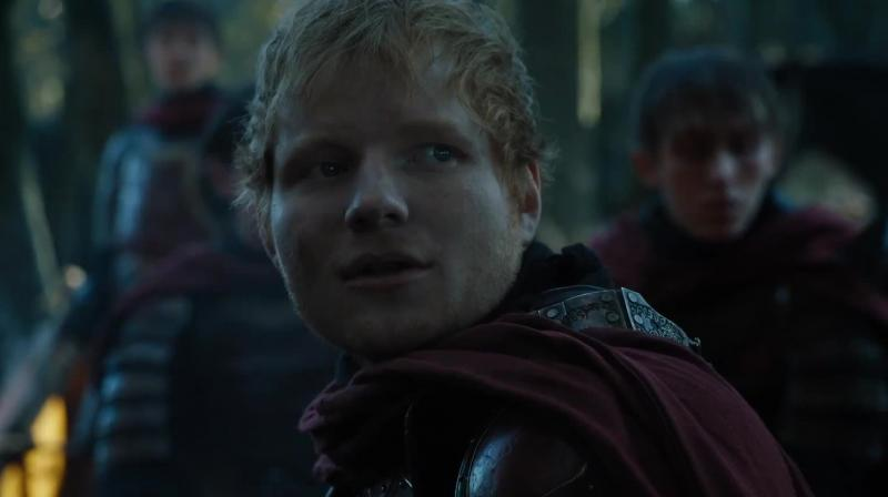 Ed Sheeran in a still from 'Games of Thrones.'