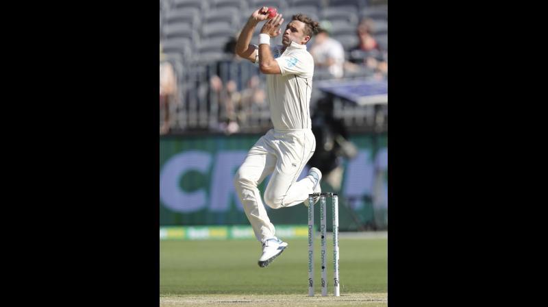 New Zealand bowler Tim Southee. AP Photo
