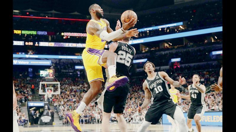 LeBron James of Los Angeles Lakers. AP Photo