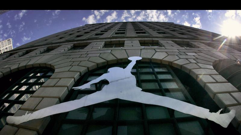 Michael Jordan 'Jumpman' logo. AP Photo