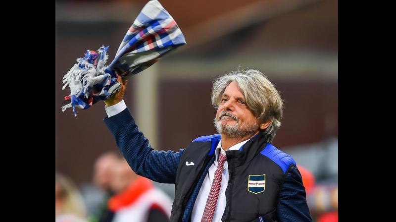 Sampdoria's president Marco Ferrero. AP Photo