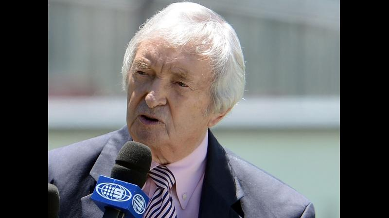 Legendary Australian cricketer and commentator Richie Benaud. AFP Photo