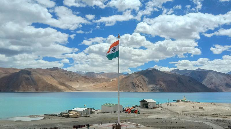 A view of Lukung in Eastern Ladakh. (PTI)