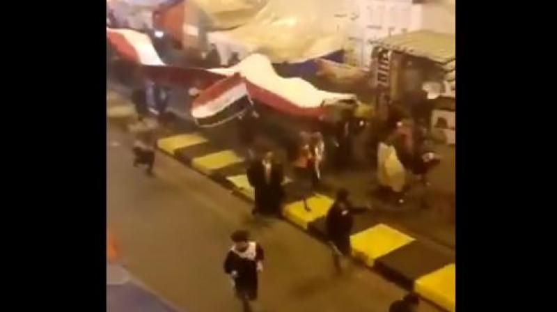 'Iraqis - Iraqis - dancing in the street for freedom; thankful that General Soleimani is no more,' Pompeo wrote, alongside footage of scores of people running along a road and waving what appeared to be Iraqi flags and other banners. (Photo: Screengrab | Twitter)