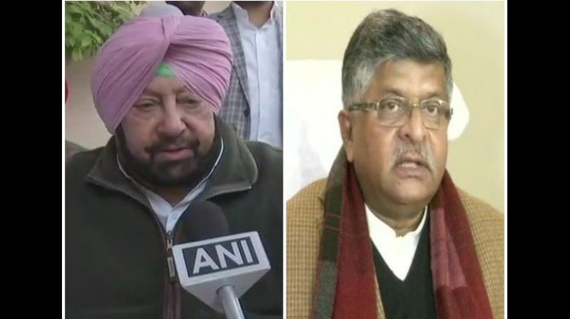 Taking to Twitter, Singh targeted Union Law and Justice Minister Ravi Shankar Prasad and asserted that the Centre must pay attention to the issues raised by the state governments, as they also 'represent the voice of people'. (Photo: ANI)