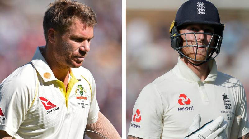 Australia Test skipper Tim Paine has said that England players use the name of opening batsman David Warner to spike their book sales.  His remarks come after all-rounder Ben Stokes' revelation that Warner said some words during the Headingley Test and it inspired him to play the match-winning knock against Australia earlier this year. (Photo:AP)