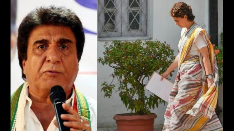'In fact, Priyankaji's points are now resonating with the public, which the BJP is unable to see or read,'  Raj Babbar said. (Photo: PTI)