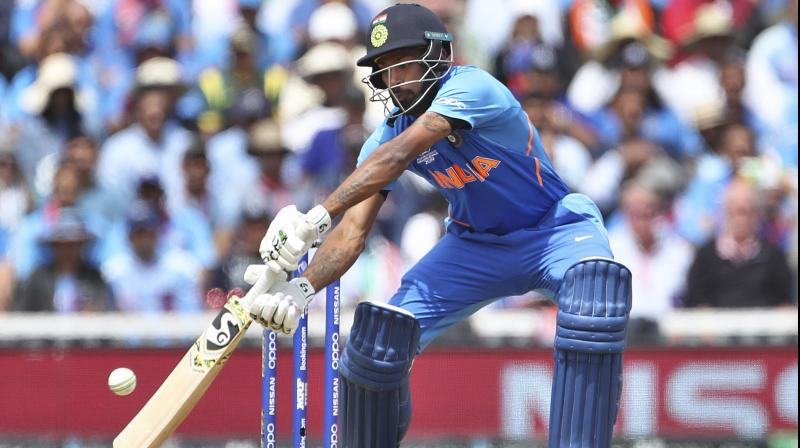 Hardik Pandya came onto the field in the 38th over and he was dropped by Australian wicket-keeper Alex Carey on the very first delivery. (Photo: AP/PTI)