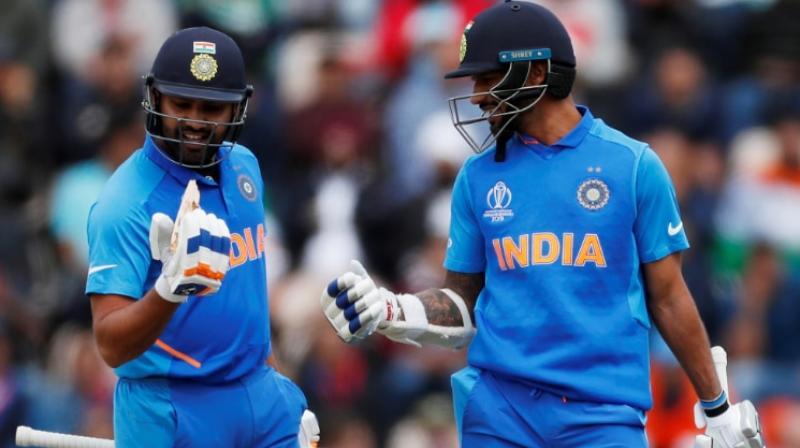 Rohit Sharma and Shikhar Dhawan (Photo: Reuters)