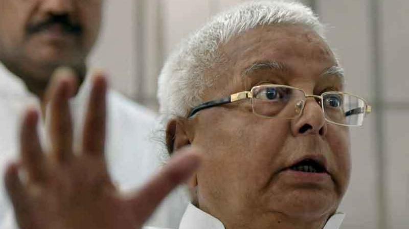 The 69-year-old RJD leader Lalu Prasad Yadav is lodged in the central jail in Ranchi since his conviction on December 23. (Photo: File/PTI)