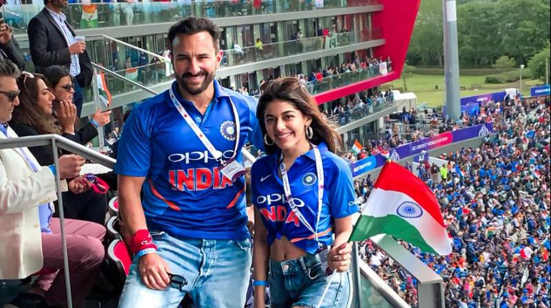 Saif Ali Khan and Alaia F. (Photo: Twitter)