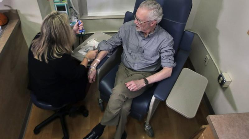 Those with a gene that raises their risk of the disease were started on a lower dose because they are more likely to suffer inflammation in the brain from medicines that target plaque. (Photo: AP)