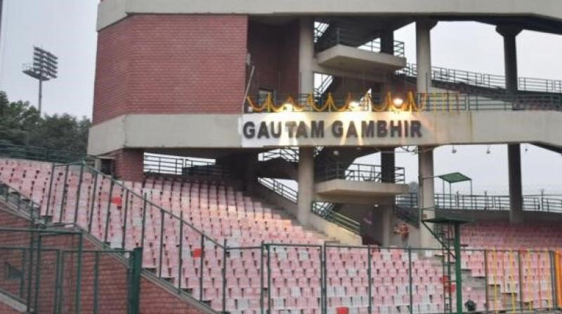 Former cricketer Gautam Gambhir now has a stand named after him at the Arun Jaitely stadium. The cricketer-turned-politician himself unveiled the stand on Tuesday.  (Photo:TWitter)