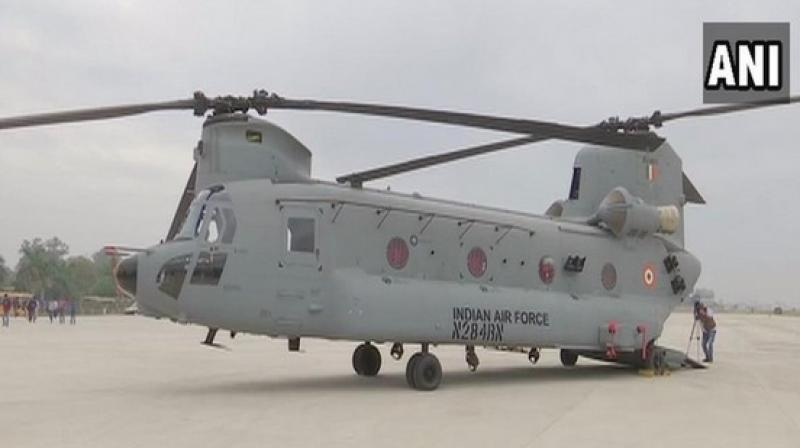 The first four of such 15 choppers have arrived at Chandigarh's Air Force Station 12 Wing for their deployment by the IAF. (Photo: ANI)