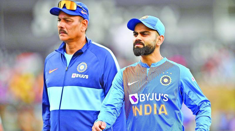 Ravi Shastri and Virat Kohli.