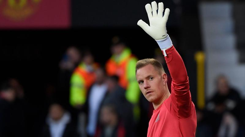 MArc-Andre Ter Stegen displayed a scintillating performance in the Copa Del Rey's second leg semi-final as in he managed to maintain a clean sheet in the match. (Photo: AFP)