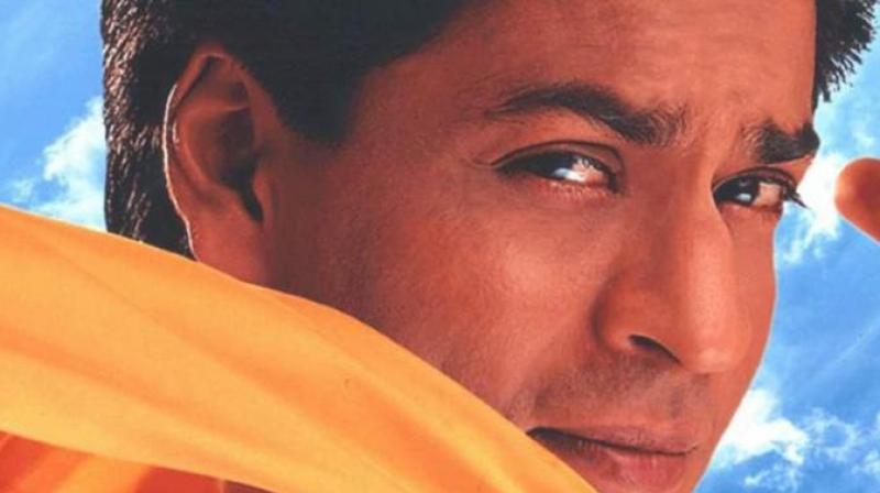 SRK in a still from 'Phir Bhi Dil Hai Hindustani'.