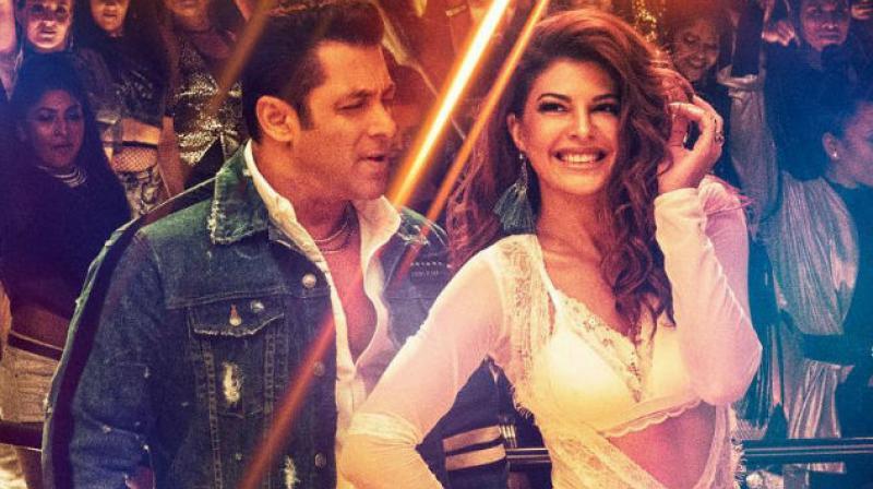 Salman Khan and Jacqueline Fernandez in 'Race 3' song 'Heeriye'.