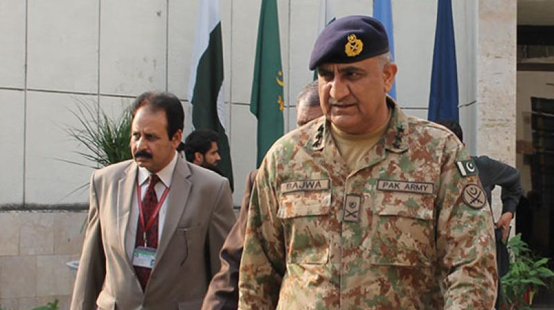 Pakistan Army chief Gen Qamar Javed Bajwa. (Photo: Videograb)