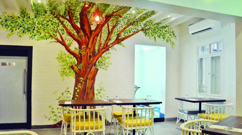 The restaurant interiors specially designed for pets