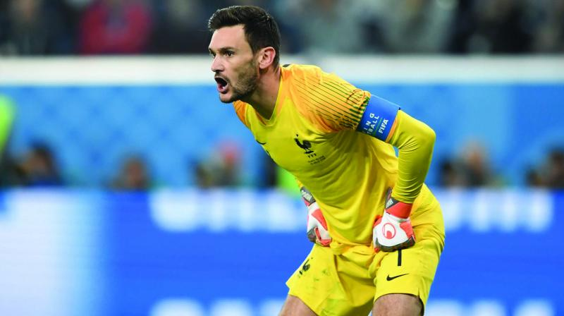 Captain of the French football team, Hugo Lloris. France last won the FIFA World Cup in 1998 and is under much pressure to win this game.