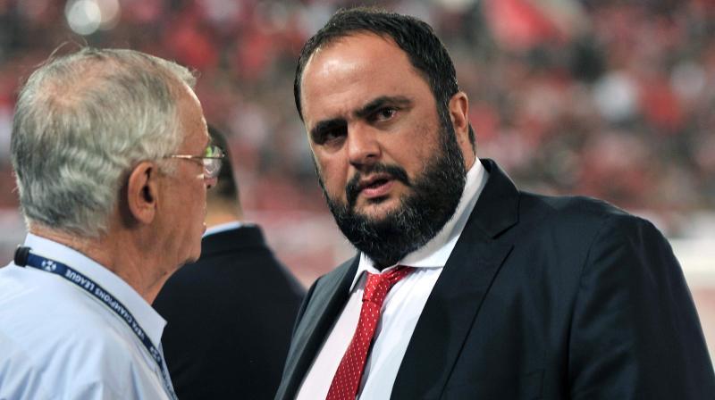File photo of Evangelos Marinakis, president of Olympiakos football club. AFP Photo