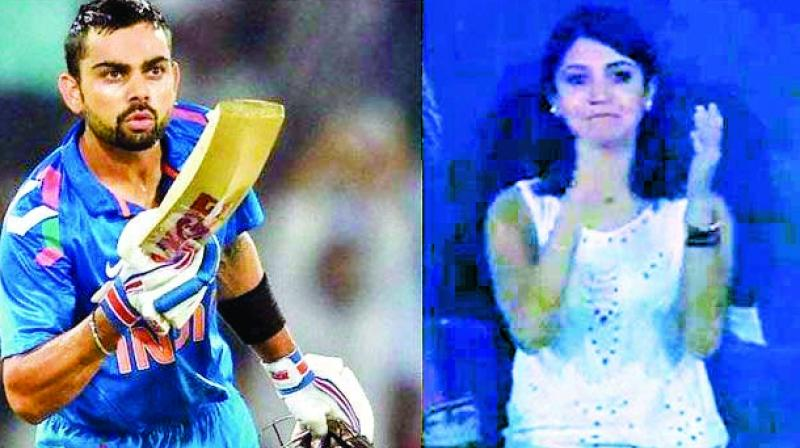 When Virat Kohli surpassed Vivian Richards' record of the fastest 6,000 runs, he removed his helmet and gave a flying kiss to then girlfriend Anushka Sharma.