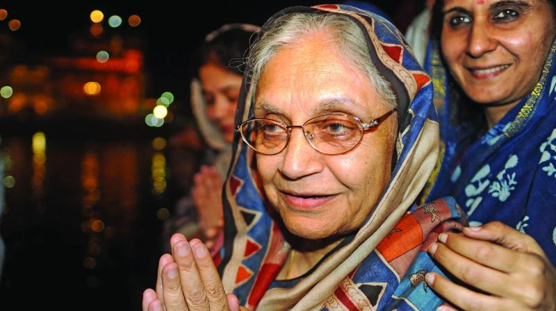 Former Delhi chief minister Sheila Dikshit	 (Photo: AFP)
