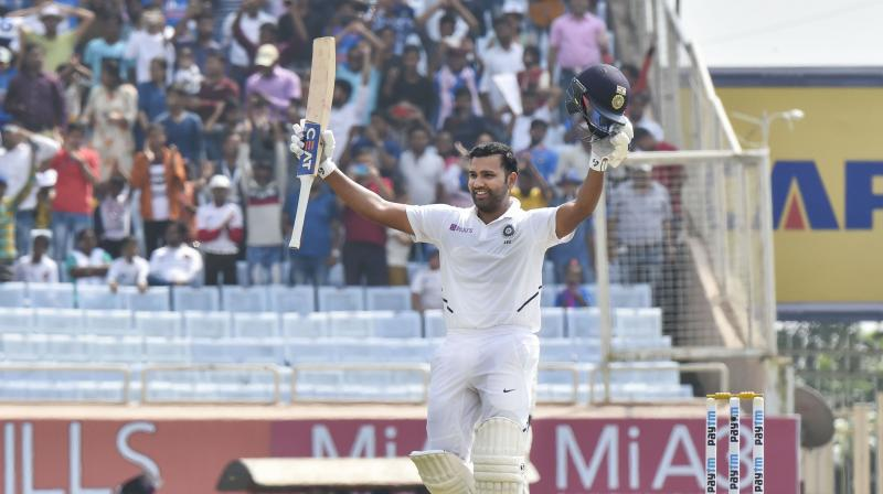 Rohit Sharma's player of the series effort of 529 runs helped him make huge strides from 44th place before the series. (Photo: PTI)