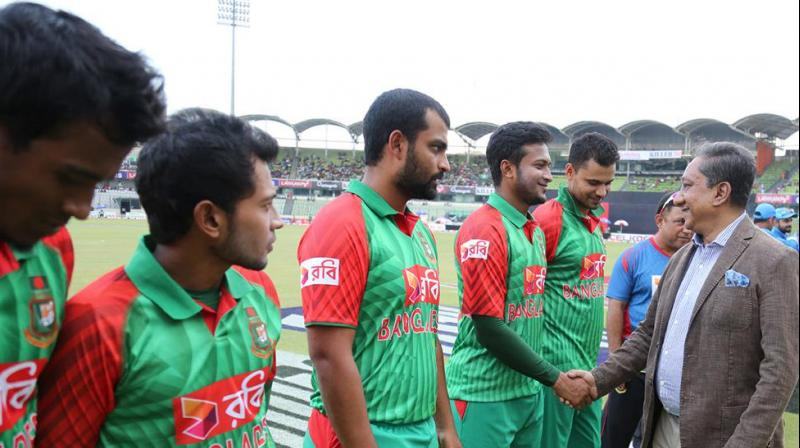Bangladesh cricketers, led by star all-rounder Shakib Al Hasan, have called off their strike over pay and benefits after getting assurance from the country's board that all their demands will be met, putting their tour of India back on track. (Photo:BCB)