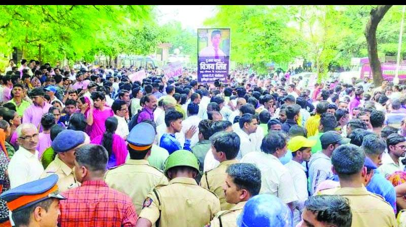File picture of people protesting after Singh's death.