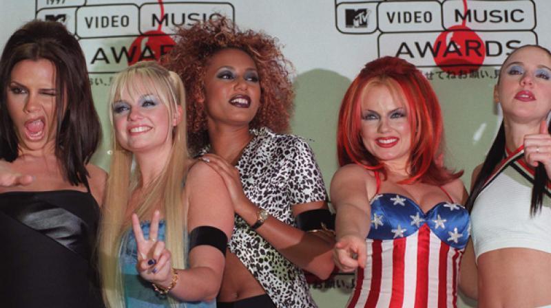 Spice Girls Mel B, Victoria Beckham, Emma Bunton and Geri Horner. (Photo: AP)