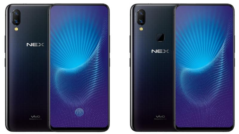 The Vivo NEX S (left) and NEX A (right).