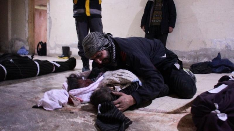 After the council vote Saturday, Syrian warplanes backed by Russian air power launched new raids on a town in Eastern Ghouta, the Syrian Observatory for Human Rights said. (Photo: AFP)
