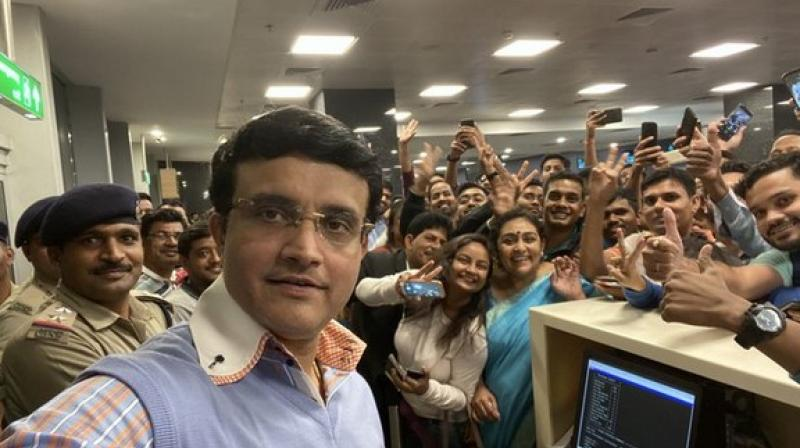 Overwhelmed with love and affection being showered by his fans, Board of Control for Cricket in India's (BCCI) president Sourav Ganguly on Wednesday said that the love of so many people makes him feel grateful. (Photo:Twitter)