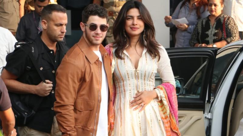 Priyanka Chopra and Nick Jonas leave for Jodhpur.