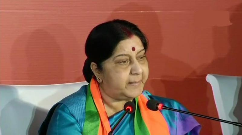 Foreign External Minister Sushma Swaraj in a series of tweet confirmed that the Indian High Commission in Colombo conveyed that National Hospital has informed about the death of three Indian nationals. (Photo: File)