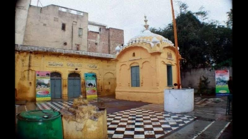 The gurudwara under fire from Lahore authorities. (Twitter/ Aditya Raj Kaul)