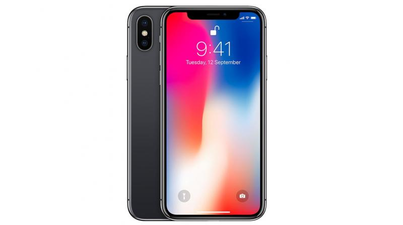 Apple iPhone X with Face ID embedded in the Notch.