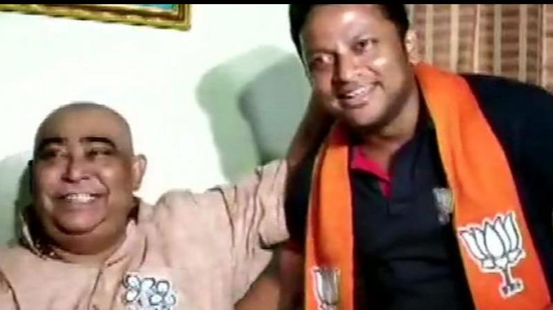 Hazra, who had switched over from Trinamool Congress in March after being expelled for anti-party activities, left the BJP red faced after he met senior TMC leader Anubrata Mondal fuelling speculation over his return to the party. (Photo: ANI)