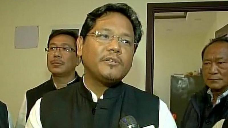 Congress Party leader Conrad Sangma (Photo: ANI)