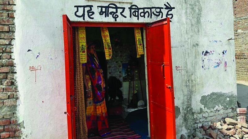 The temple, which belongs to a 62-year-old woman named Shakuntala, has alleged that the local goons have been giving her a harrowing time.