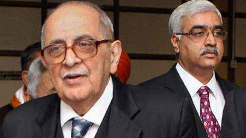Eminent jurist Fali S Nariman (L). (Photo: PTI/File)