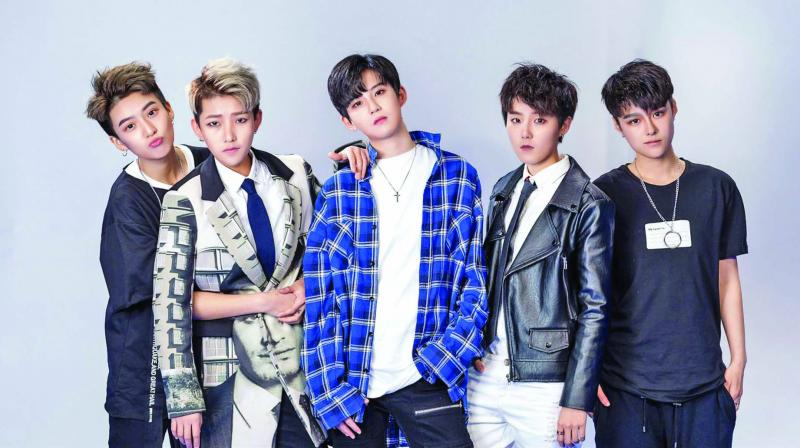 Acrush, China's hottest 'boy band' that's actually made up of five androgynous girls.