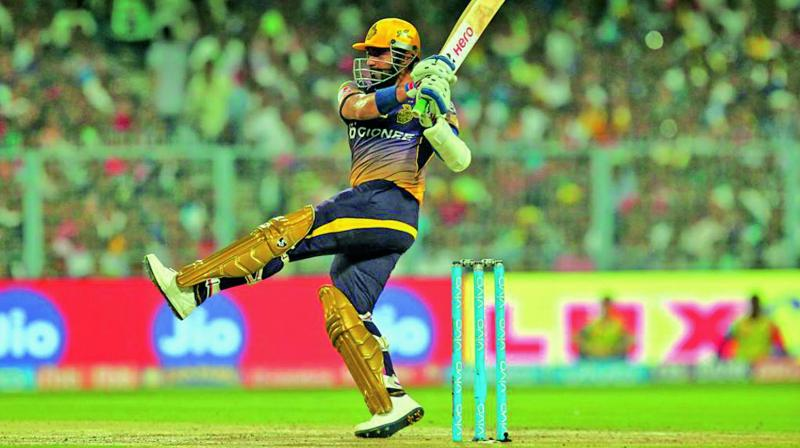 Robin Uthappa continued his purple patch with a whirlwind knock of 59. (Photo: BCCI)