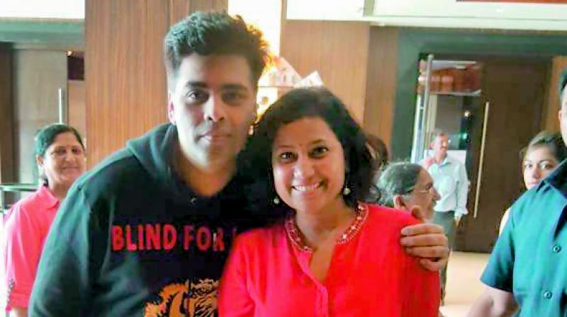 Devika Bahudhaman with Karan Johar.