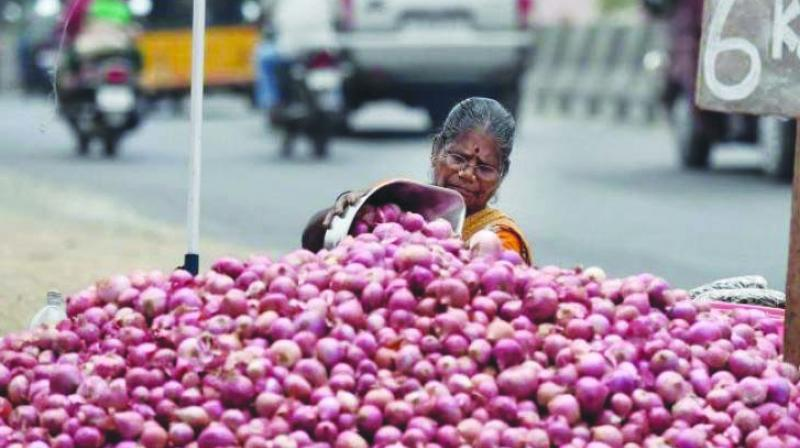 Onions price in retail markets, where in the range of Rs 30-40 per kg depending on quality and locality.