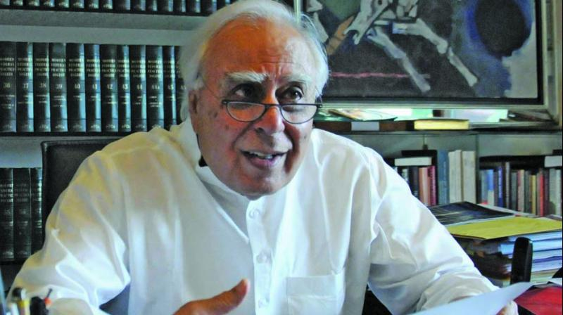 Congress leader Kapil Sibal	(Photo: G.N. Jha)