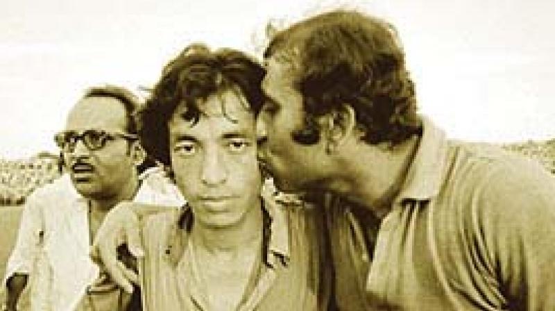 Shyam Thapa (left) with P.K. Banerjee.