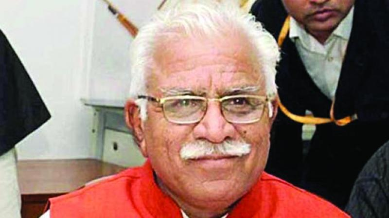 Addressing press conference in Chandigarh on Thursday, CM Manohar Lal Khattar said that target has been set to issue 50,000 new solar energy connections of which tenders have been floated for 15,000 connections. (Photo: File)